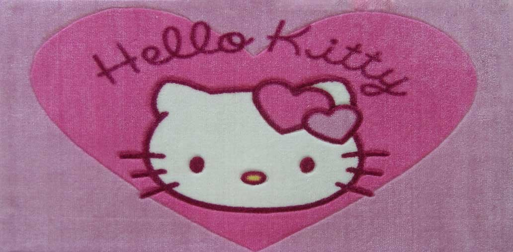 Les Tapis Hello Kitty Heart Rose