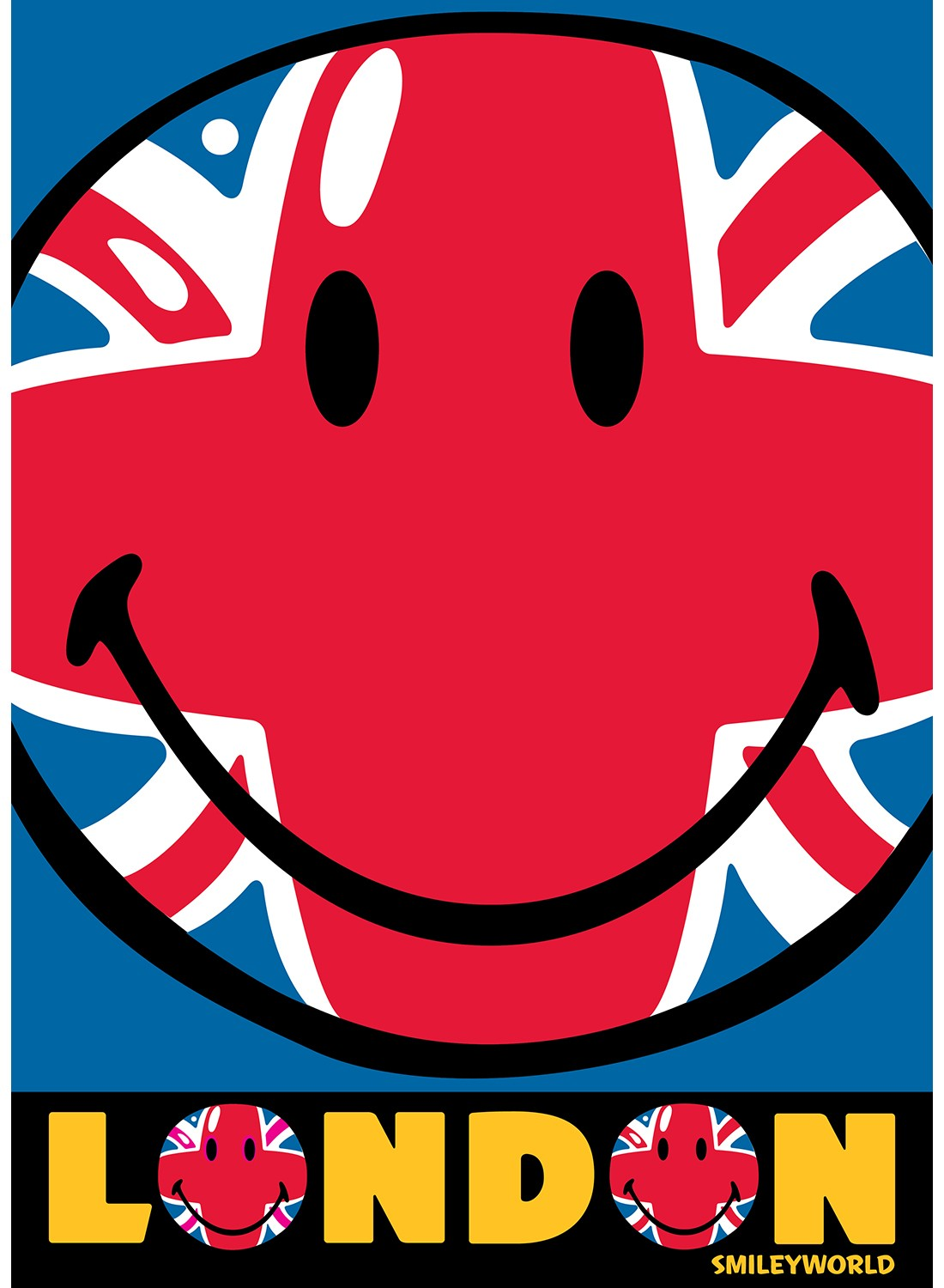 Les Tapis - SMILEY UNION JACK rouge