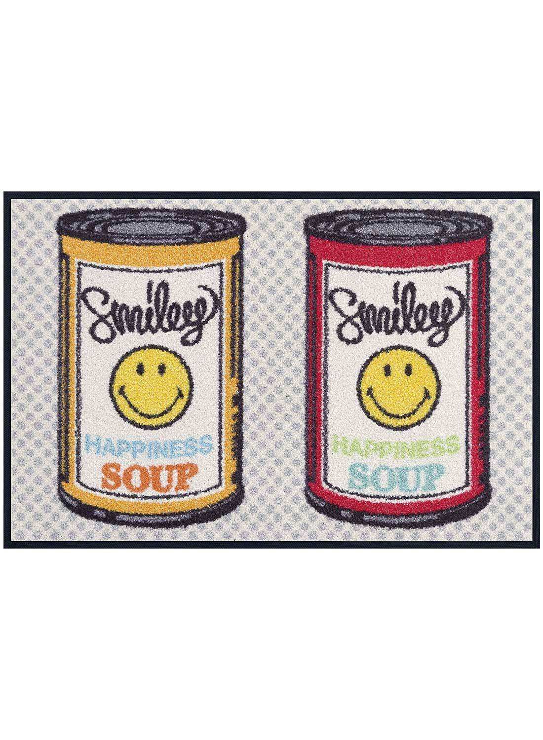 Tapis d'entrée SMILEY HAPPINESS SOUP TX multicouleur