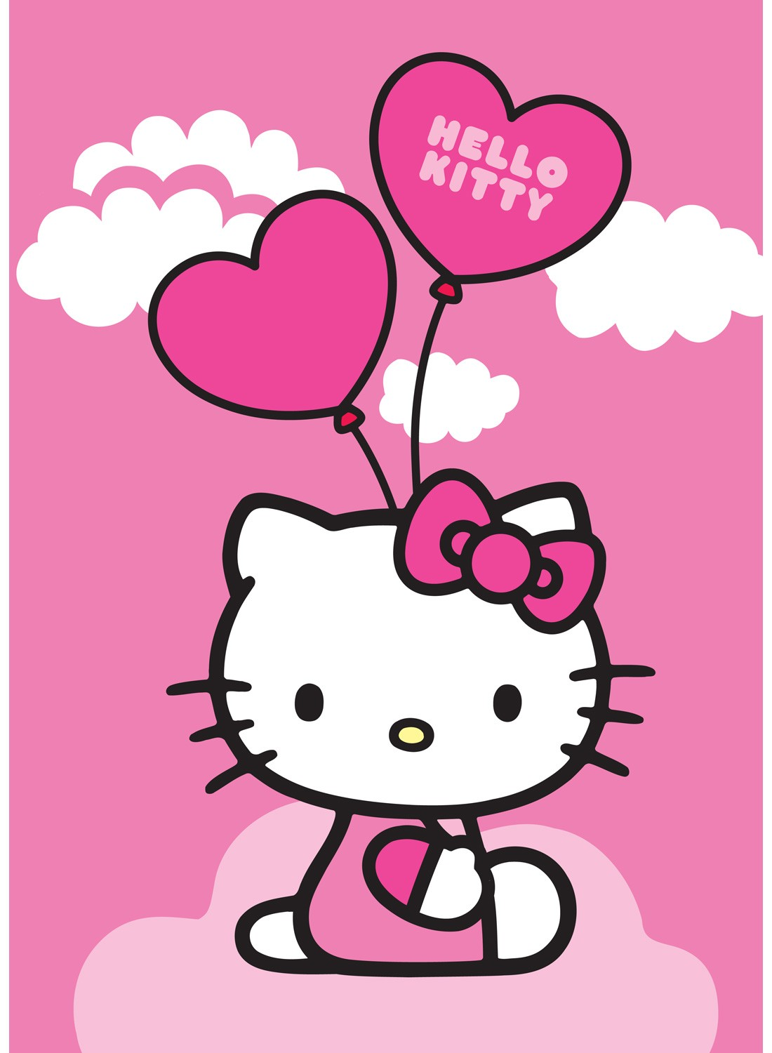Les Tapis Hello Kitty Ballon Rose
