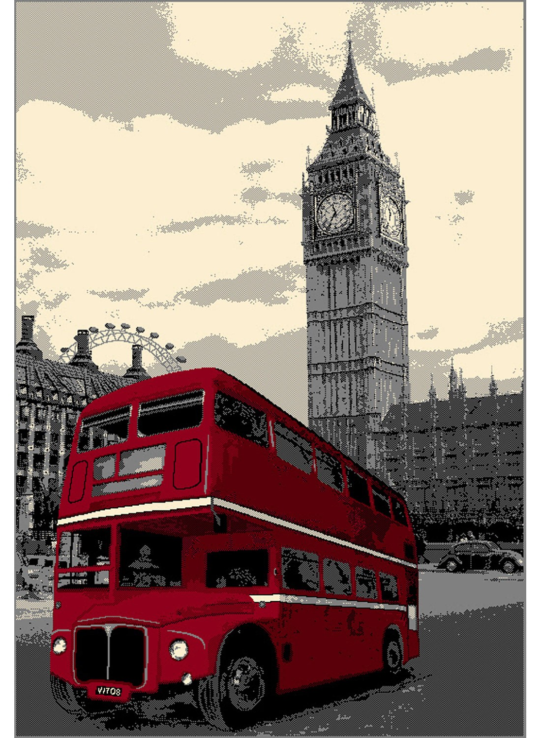 london bus rouge with tapis londres pas cher. Black Bedroom Furniture Sets. Home Design Ideas