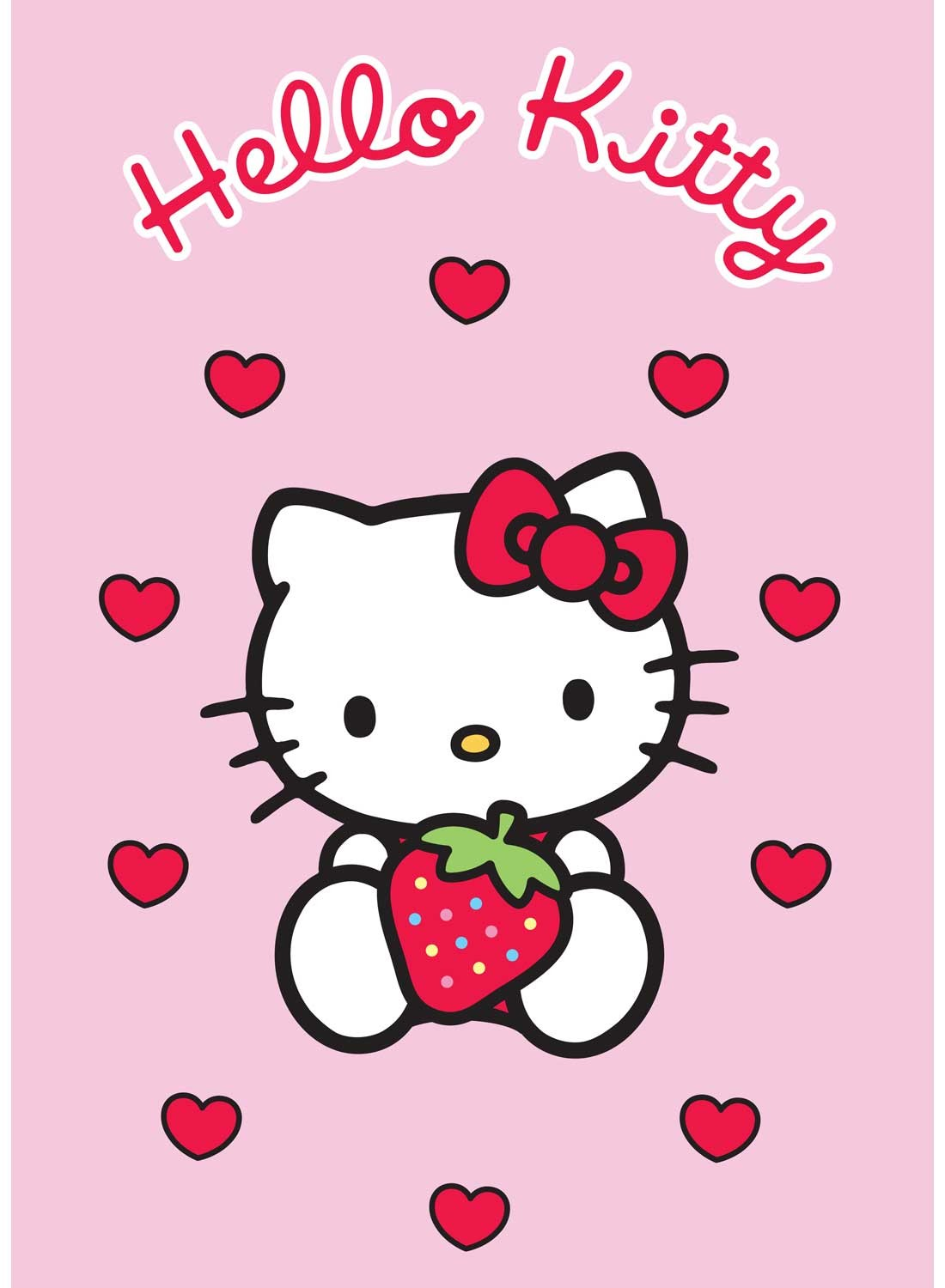 Les Tapis Hello Kitty Fraise Rose