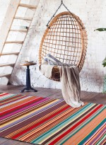 Tapis KILIM RAYE FEEL DESIGN rouge  en Laine