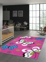 Tapis BUTTERFLY rose