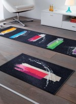 Paillasson tapis d'entrée COLOUR BRUSH TX multicouleur