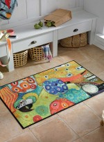 Paillasson Tapis d'entrée COLOUR FANTASY WITH PARROT TX multicouleur