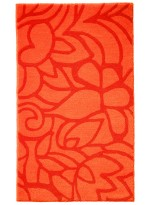 TAPIS DE SALLE DE BAIN FLOWER SHOWER orange