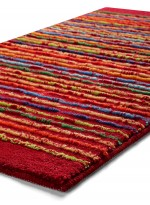 TAPIS DE SALLE DE BAIN COOL STRIPES rouge