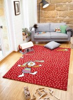 Tapis Tapis enfant RAINBOW RABBIT rouge