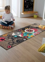 Paillasson Tapis d'entrée LOOPS AND FLOWERS TX multicouleur