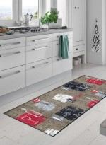 tapis de cuisine LUNCH + DINNER TX taupe