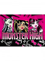 Tapis MONSTER HIGH SKULL rose