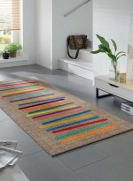 Tapis Tapis de couloir MIXED STRIPES TX multicouleur