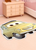 Tapis SHAPED CARS jaune