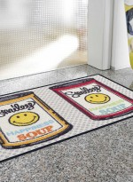 Paillasson Tapis d'entrée SMILEY HAPPINESS SOUP TX multicouleur