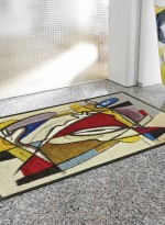 Paillasson tapis d'entrée STEADY COMPOSITION TX multicouleur