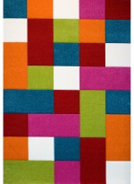 Tapis CARREAUX multicolore