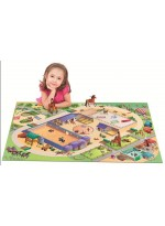 Tapis Tapis enfant jeu circuit CONNECTE EQUESTRE multicolore
