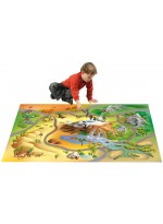 Tapis Tapis enfant jeu circuit CONNECTE SAVANE multicolore