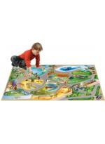 Tapis Tapis enfant jeu circuit CONNECTE ZOO multicolore