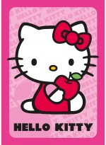 Tapis HELLO KITTY POMME rose