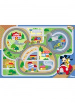 Tapis MICKEY ON THE ROAD multicolor