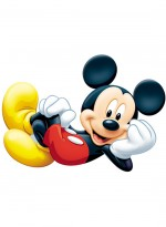 Tapis SHAPED MICKEY rouge