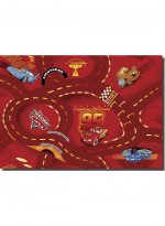 Tapis THE WORLD OF CARS rouge