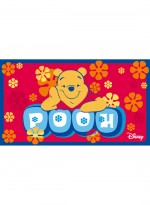 Tapis WINNIE THE POOH rouge