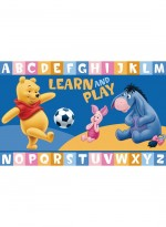 Tapis WINNIE LEARN AND PLAY bleu