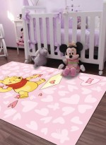 Tapis WINNIE PINK HEARTS Rose