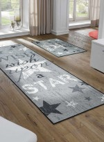 Paillasson Tapis d'entrée WISH UPON A STAR TX gris