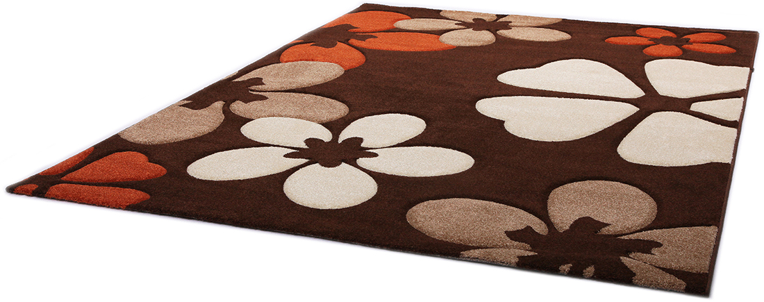tapis orange et marron hoze home. Black Bedroom Furniture Sets. Home Design Ideas